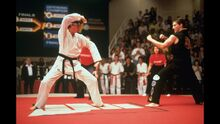 Karate Kid III - Daniel prepares to perform Kata