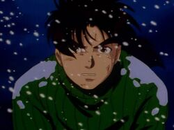 Hajime Kindaichi Attacked at Tarot Mountain Hut (Anime)