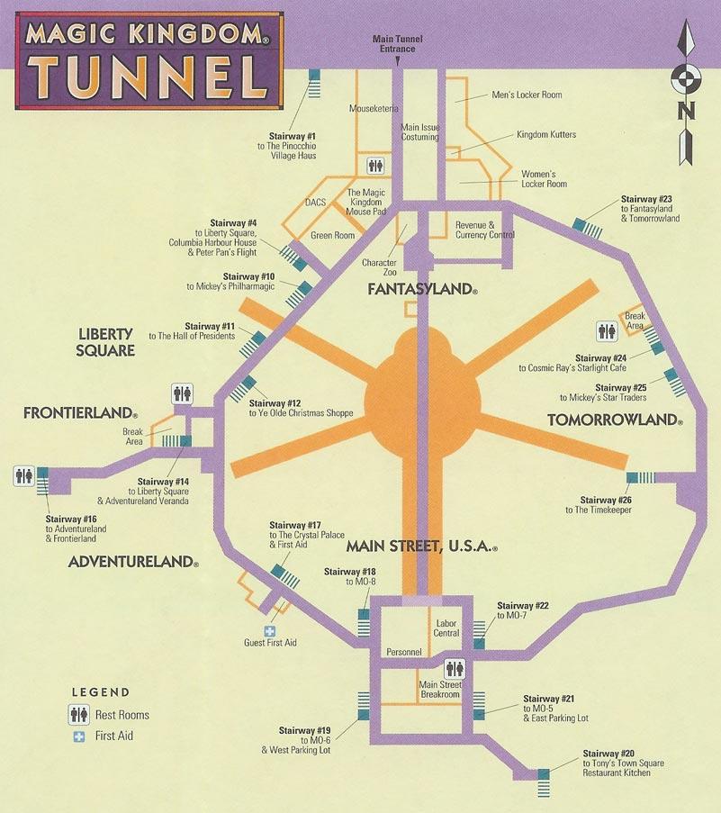 Image - Disney-world-magic-kingdom-tunnel-map.jpg | The ...