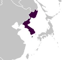 Location of the Korean Empire (Satomi Maiden ~ Third Power)