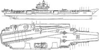 Soviet aircraft carrier Michail Gorbachev (Admiral Fyodor Ushakov class aircraft carrier)