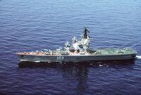 Soviet helicopter carrier Leningrad