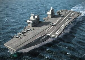 Super Queen Elizabeth class aircraft carrier