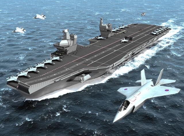 File:HMCS Queen Elizabeth class aircraft carrier.jpg