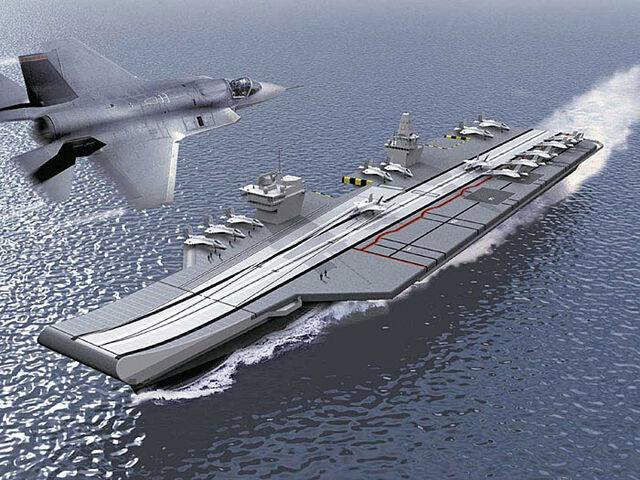 File:HMCS Super Queen Elizabeth class aircraft carrier.jpg