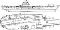 Soviet aircraft carrier Admiral Fyodor Ushakov