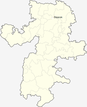 Location of Ozyorsk, Russian Soviet Federative Socialist Republic, Soviet Union