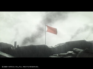 Glorious Yuktobanian Flag Amongst Battle Ruins
