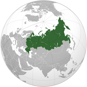 Russian Federation on map