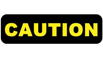 Black caution sign Ia