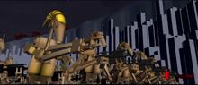 Conqueror droid army attacks