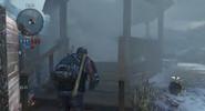 Player using smoke bomb