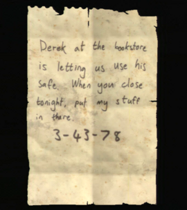 Note to Derek