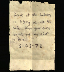 Artifact - Note to Derek