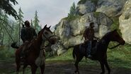 Joel et Tommy à cheval