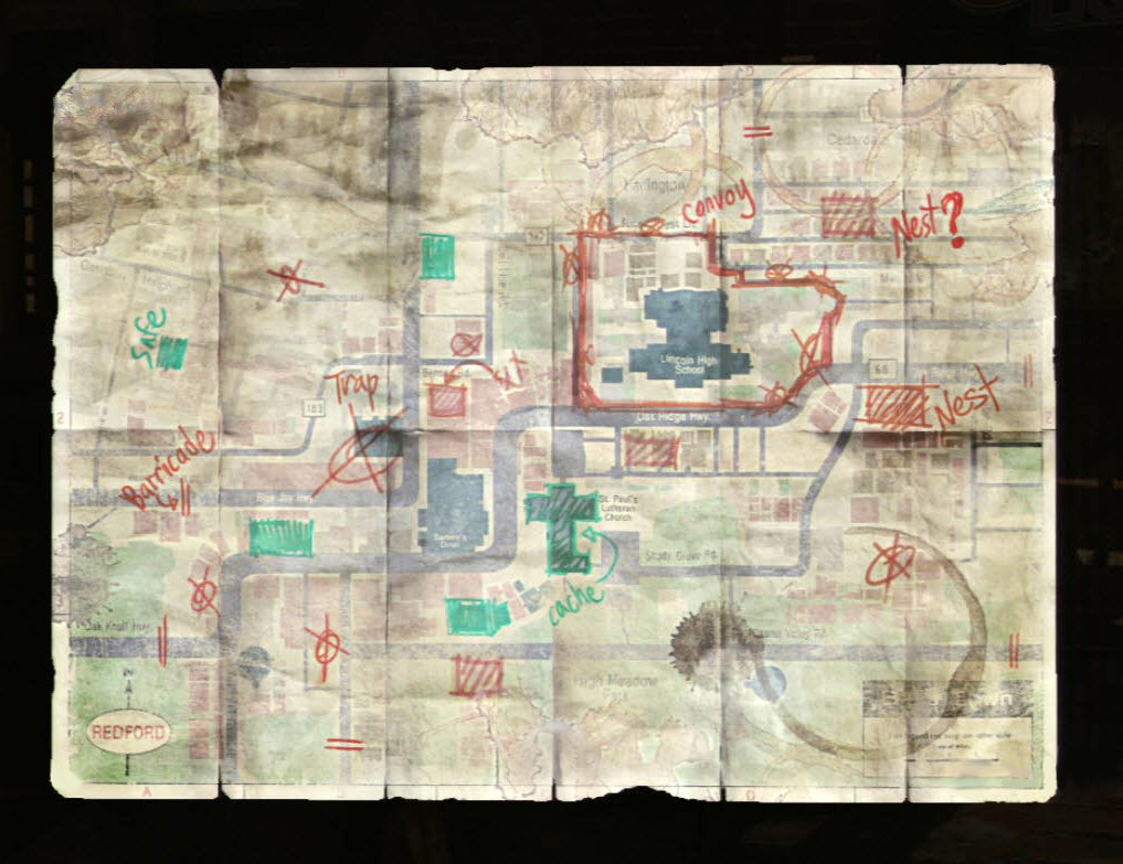 Image Bills Mappng The Last Of Us Wiki FANDOM Powered By Wikia - The last of us map