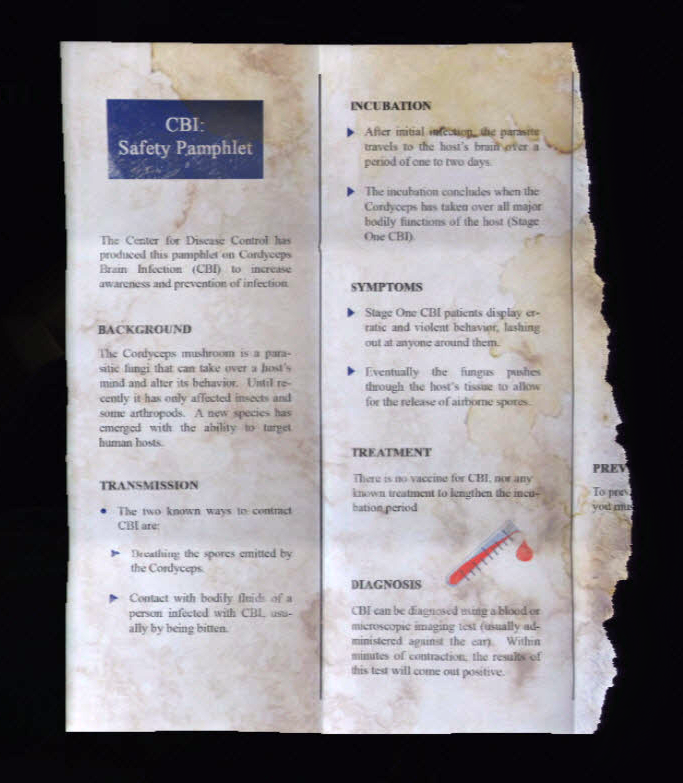 medical pamphlet the last of us wiki fandom powered by wikia