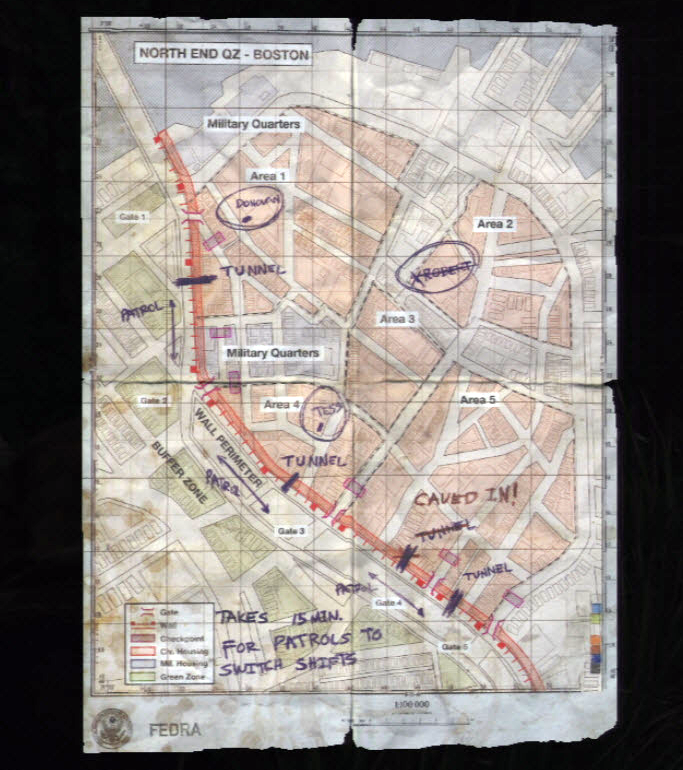 The Last Of Us Map Boston Q.Z. Map | The Last of Us Wiki | Fandom