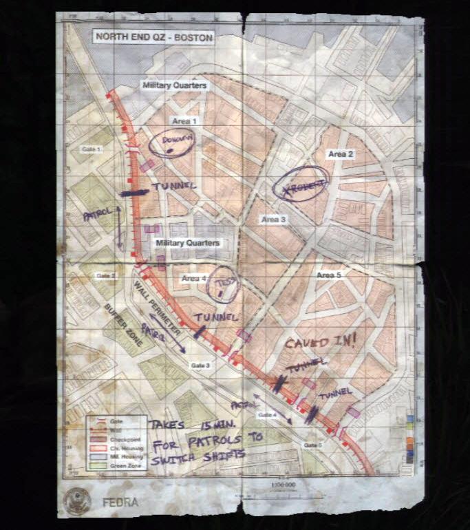 Boston QZ Map The Last of Us