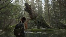 Ellie seeing a Dinosaur