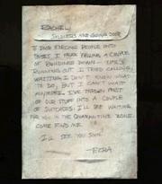 Artifact - Note to Rachel