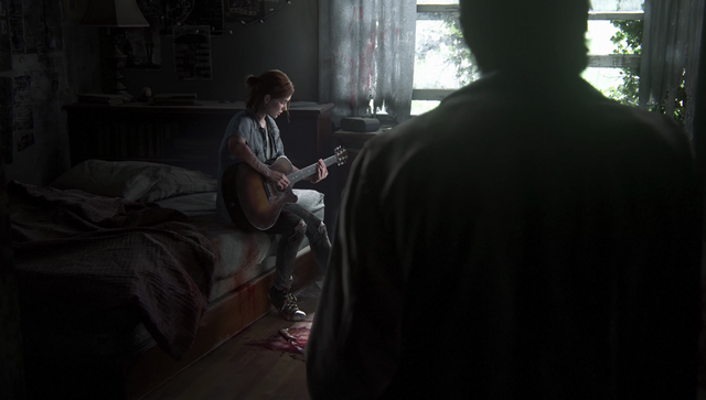 File:TLOU2 - Joel looking on.png