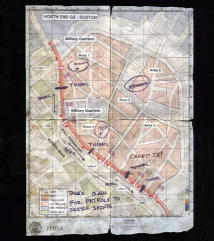 Karte der QZ Boston | The Last of Us Wiki | Fandom