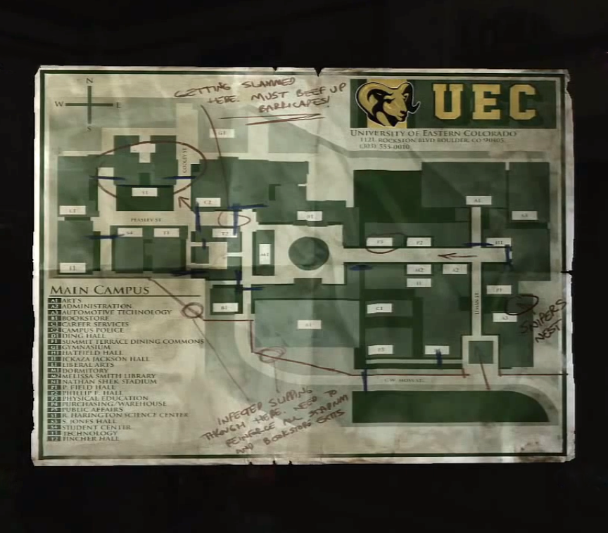 UEC Campus Map | The Last of Us Wiki | FANDOM powered by Wikia