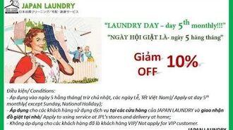 Quy trình giặt áo sơ mi của giặt là Japan Laundry