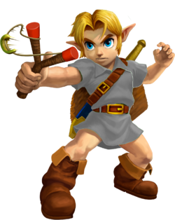 Young Link Ocarina of Time 3D
