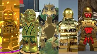 All Gold Characters in Lego Videogames!