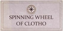 Spinning Wheel of Clotho Card