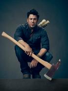 Jacob Stone holding axe season 1 promotional