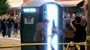 Backdoor porta potty