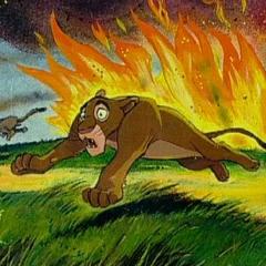 Концепт-арт. Киара спасается от пожара