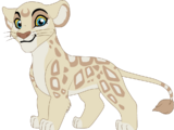 Kamaria the Albino Leopon