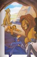 Kopa, Simba, and Nala at Pride Rock