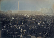 William Edward Kilburn - View of the Great Chartist Meeting on Kennington Common - Google Art Project