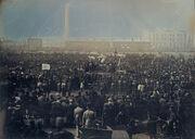 William Edward Kilburn - View of the Great Chartist Meeting on Kennington Common - Google Art Project