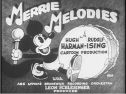 Merrie Melodies title with Foxy