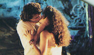 Michael and Star kiss