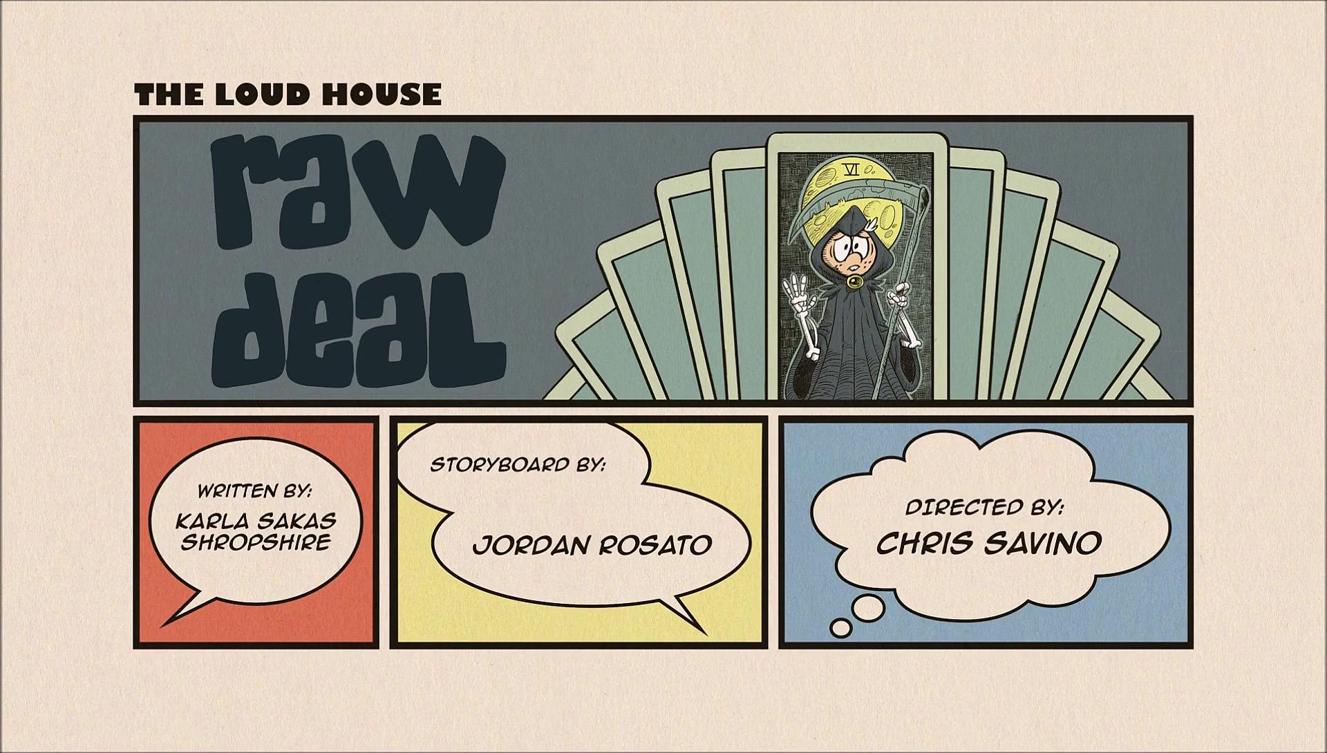 the loud house raw deal script