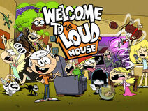 Skrin Tajuk Welcome To The Loud House