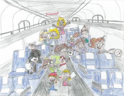 Loud Family riding Amtrak 02