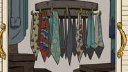 S1E09B His tie collection
