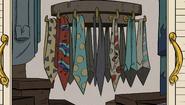 S1E09B His tie collection