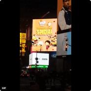 S3E21 NYC Times Square ad