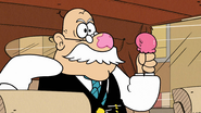 S4E26B Some of the ice cream has landed on Mr. Grouse's nose