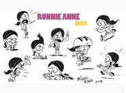 Ronnie anne poses