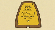 S3E15A Perfect Attendence award
